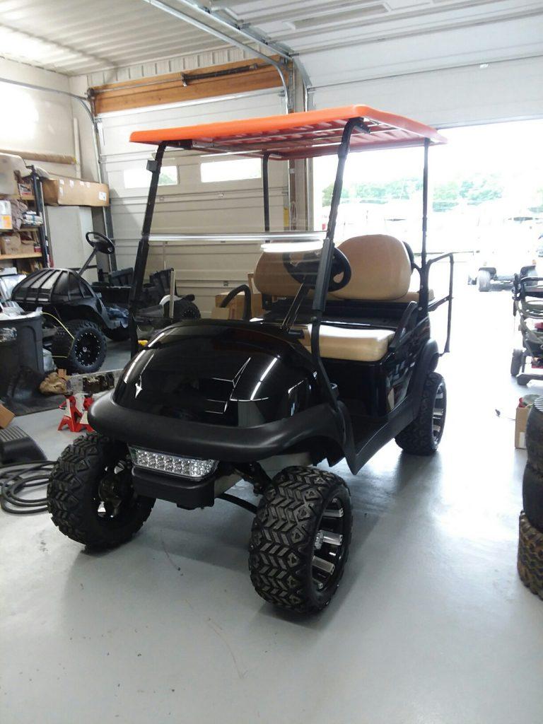 2015 Club Car Precedent-Black and Orange