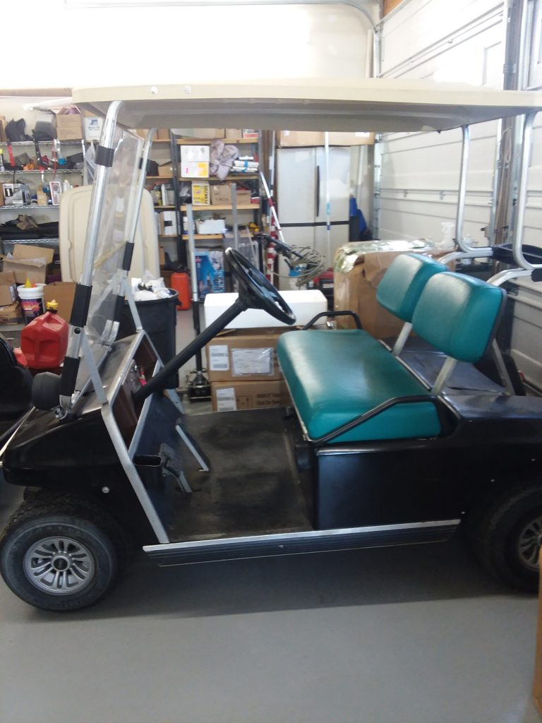 1992 Club Car DS-Black and Teal